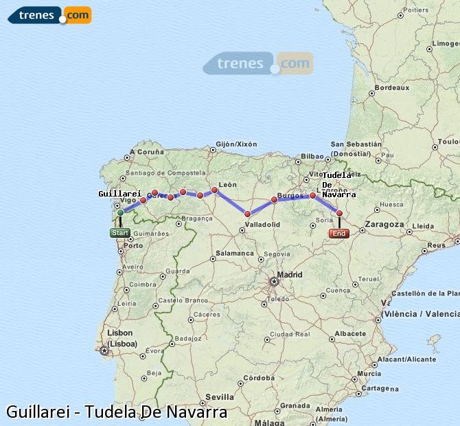 Ingrandisci la mappa Treni Guillarei Tudela De Navarra