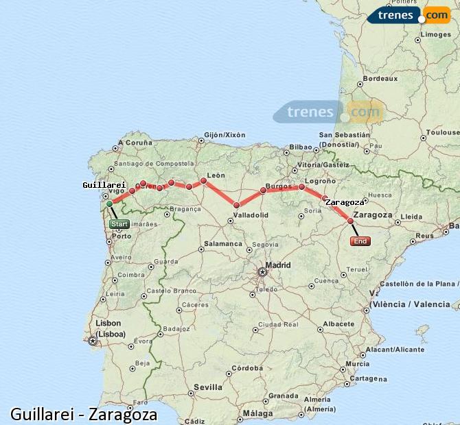 Ingrandisci la mappa Treni Guillarei Zaragoza