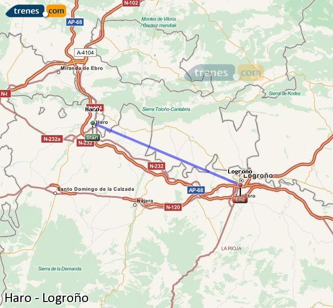 Karte vergrößern Züge Haro Logroño