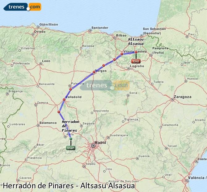 Ingrandisci la mappa Treni Herradón de Pinares Altsasu Alsasua