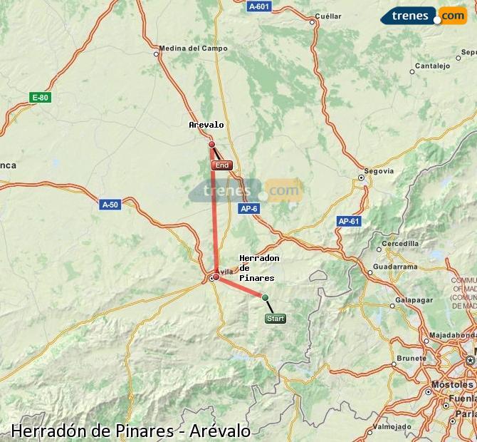 Ingrandisci la mappa Treni Herradón de Pinares Arévalo