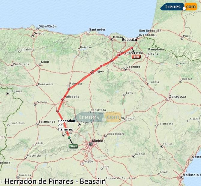Ingrandisci la mappa Treni Herradón de Pinares Beasáin
