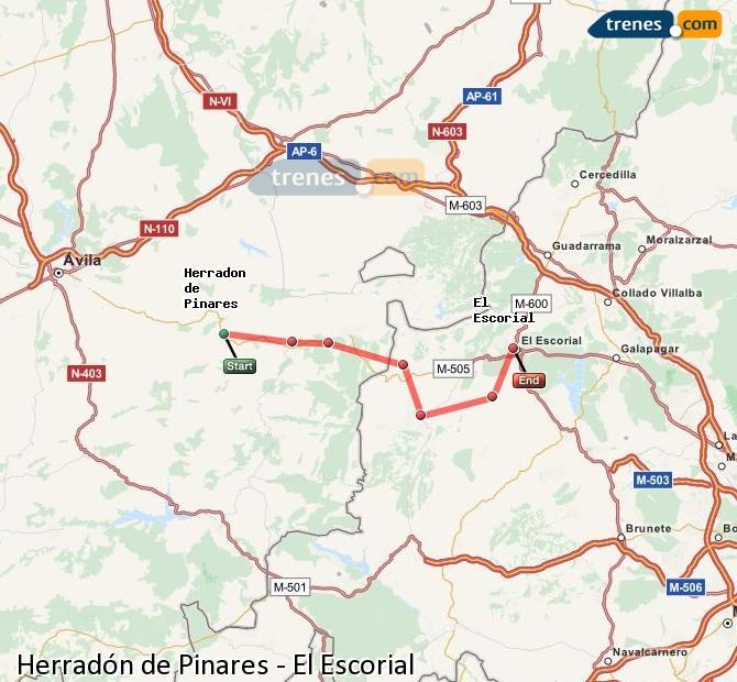 Ingrandisci la mappa Treni Herradón de Pinares El Escorial