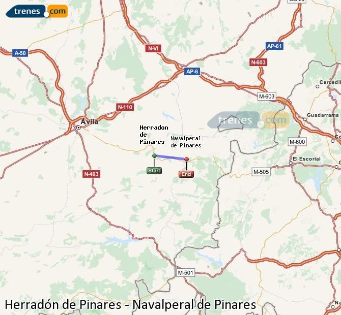 Ampliar mapa Trenes Herradón de Pinares Navalperal de Pinares