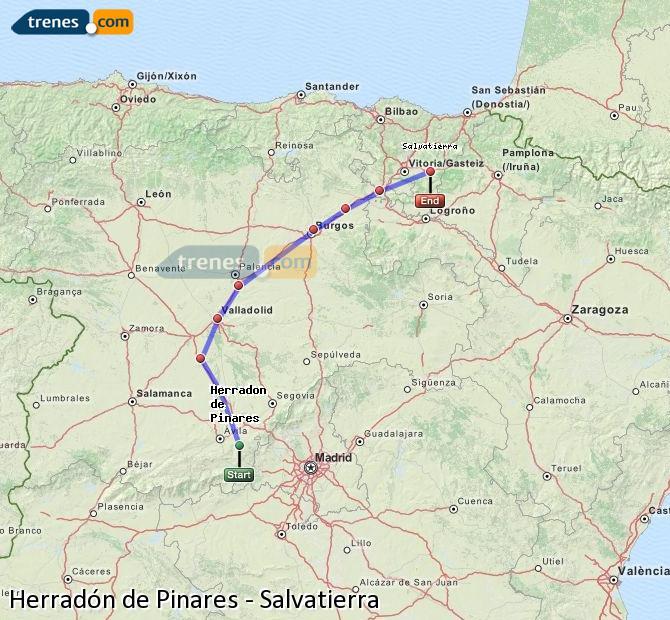 Ingrandisci la mappa Treni Herradón de Pinares Salvatierra