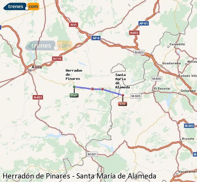 Ingrandisci la mappa Treni Herradón de Pinares Santa María de Alameda