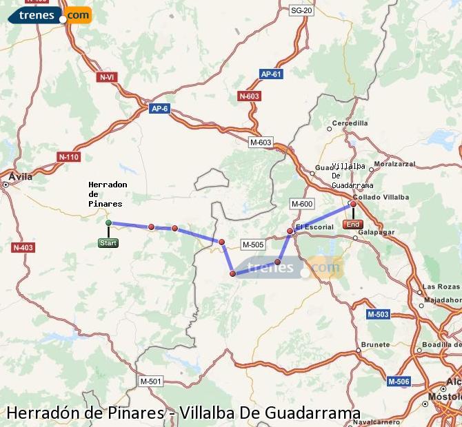 Ingrandisci la mappa Treni Herradón de Pinares Villalba De Guadarrama