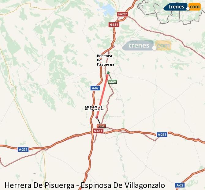 Karte vergrößern Züge Herrera De Pisuerga Espinosa De Villagonzalo