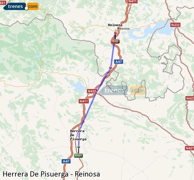 Ampliar mapa Comboios Herrera De Pisuerga Reinosa