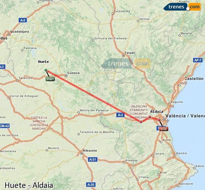 Ingrandisci la mappa Treni Huete Aldaia