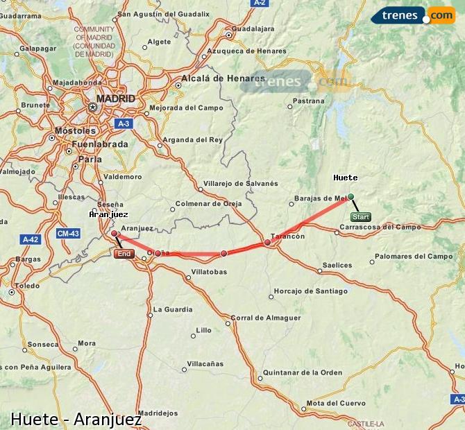 Ingrandisci la mappa Treni Huete Aranjuez