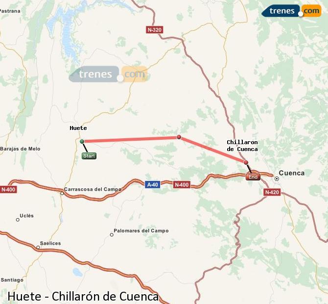 Karte vergrößern Züge Huete Chillarón de Cuenca