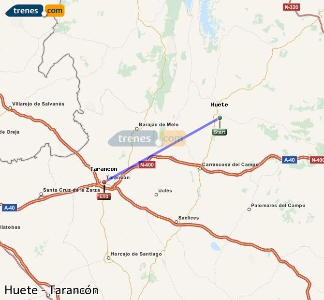 Enlarge map Trains Huete to Tarancon