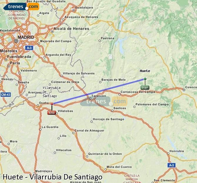 Ingrandisci la mappa Treni Huete Vilarrubia De Santiago