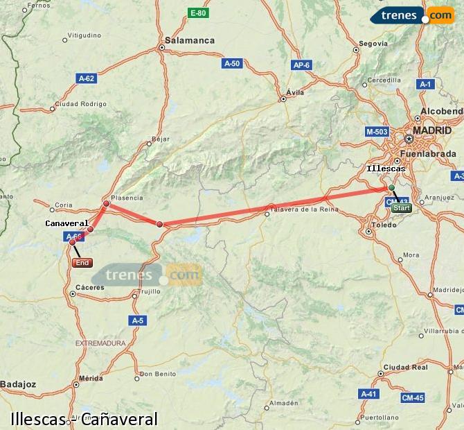 Ampliar mapa Trenes Illescas Cañaveral