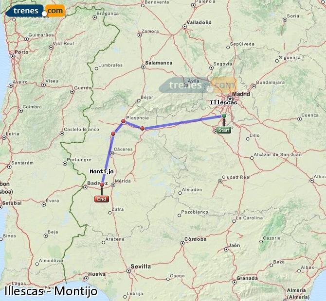 Karte vergrößern Züge Illescas Montijo
