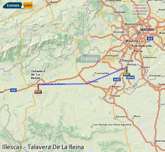 Enlarge map Trains Illescas to Talavera De La Reina