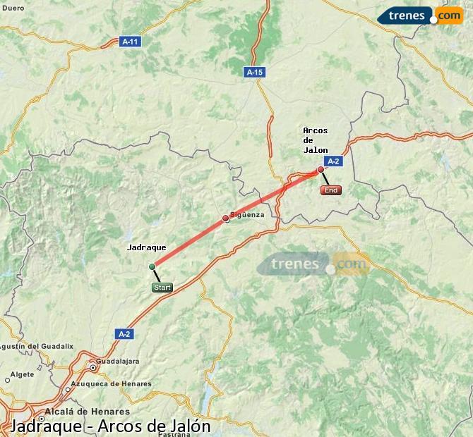 Ingrandisci la mappa Treni Jadraque Arcos de Jalón