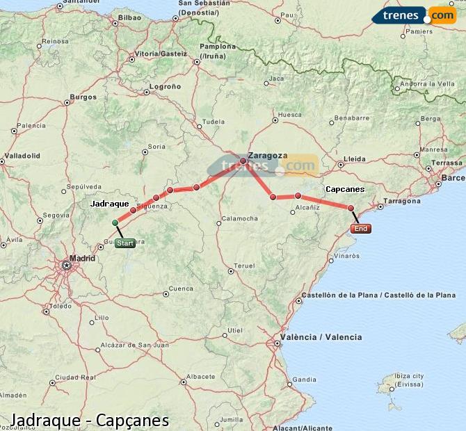 Ingrandisci la mappa Treni Jadraque Capçanes