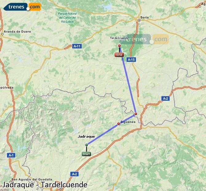 Ampliar mapa Comboios Jadraque Tardelcuende