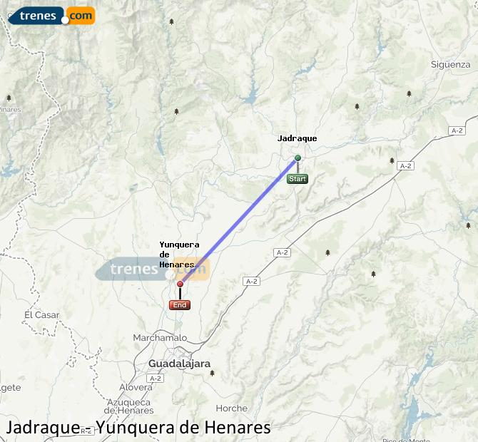 Ingrandisci la mappa Treni Jadraque Yunquera de Henares