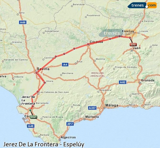 Enlarge map Trains Jerez De La Frontera to Espelúy