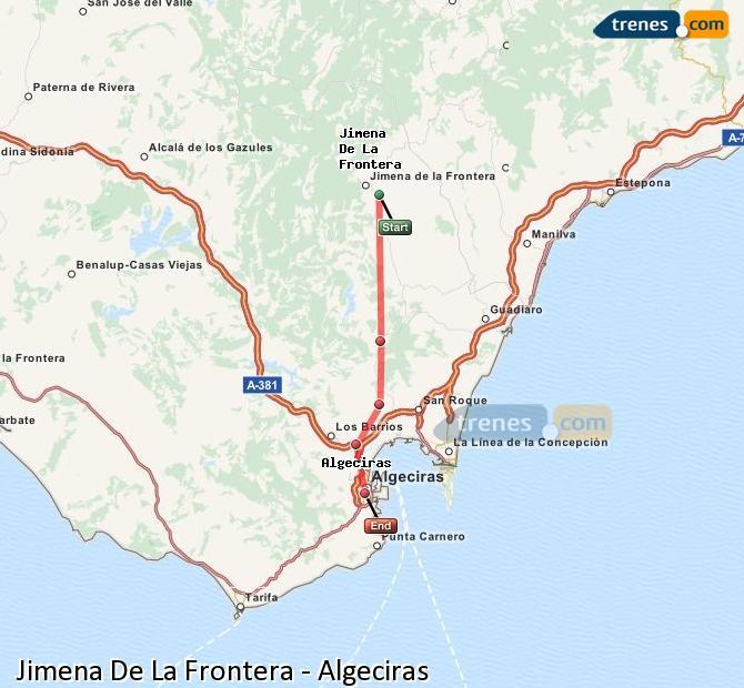 Ampliar mapa Trenes Jimena De La Frontera Algeciras