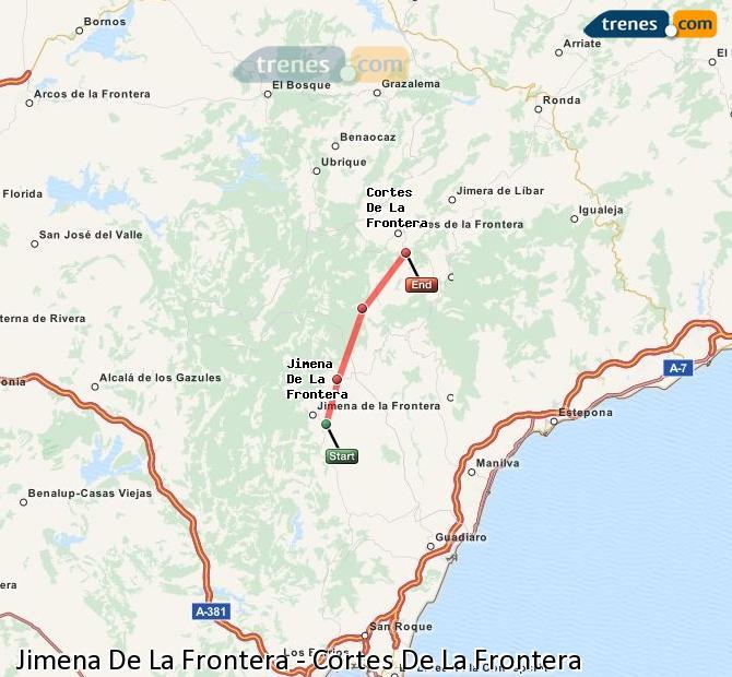 Karte vergrößern Züge Jimena De La Frontera Cortes De La Frontera