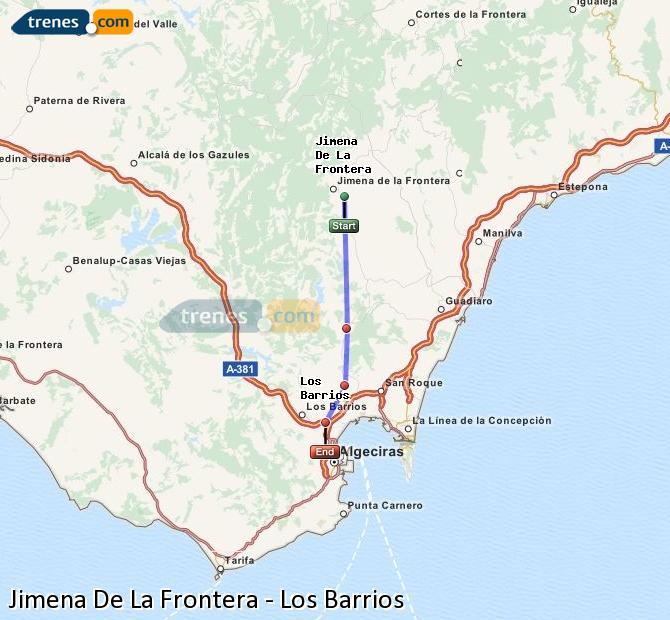 Ingrandisci la mappa Treni Jimena De La Frontera Los Barrios