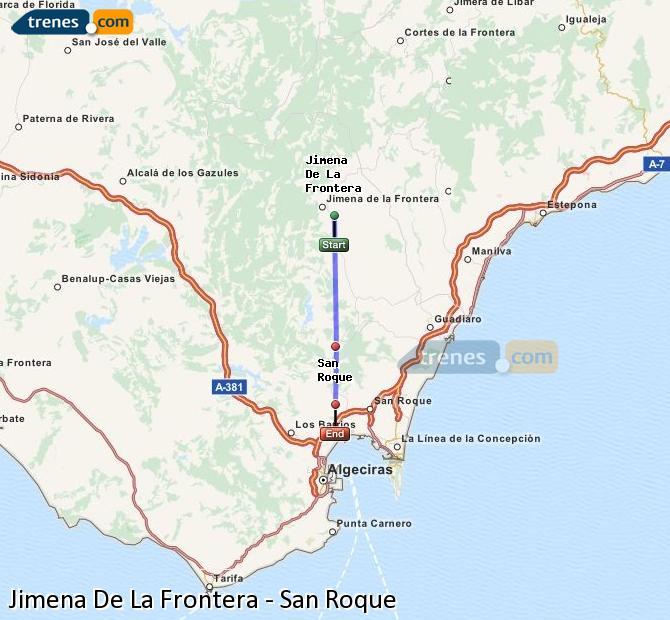 Ampliar mapa Trenes Jimena De La Frontera San Roque
