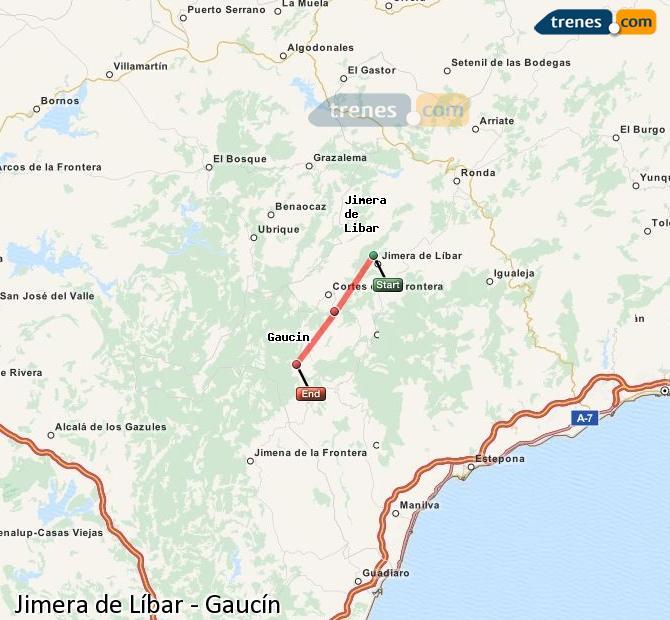 Ampliar mapa Trenes Jimera de Líbar Gaucín