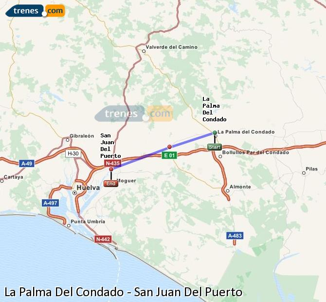 Ingrandisci la mappa Treni La Palma Del Condado San Juan Del Puerto