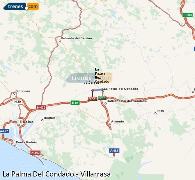 Ampliar mapa Trenes La Palma Del Condado Villarrasa