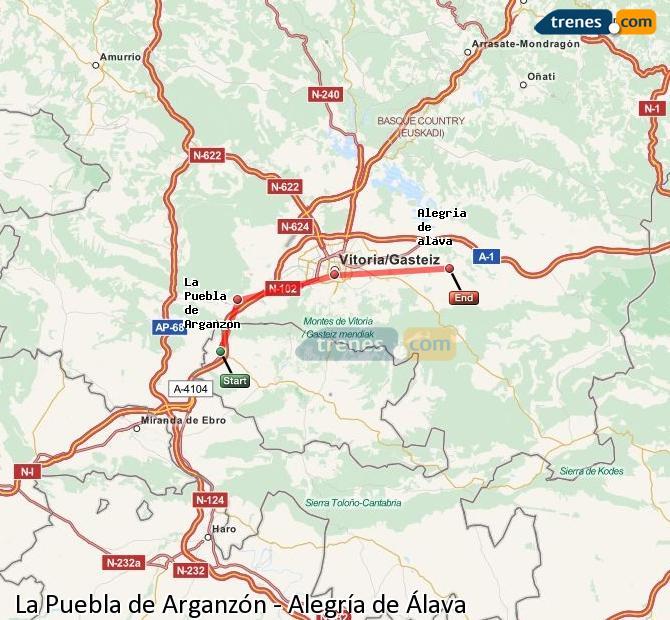 Ingrandisci la mappa Treni La Puebla de Arganzón Alegría de Álava