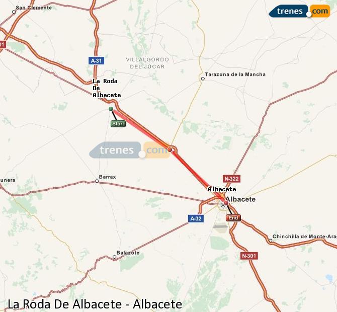 Ampliar mapa Comboios La Roda De Albacete Albacete