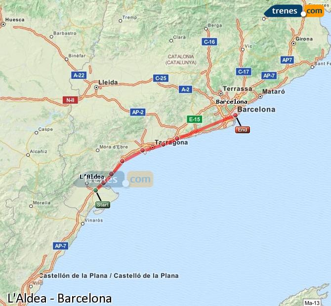 Cheap L Aldea To Barcelona Trains Tickets From 7 20 Trenes Com