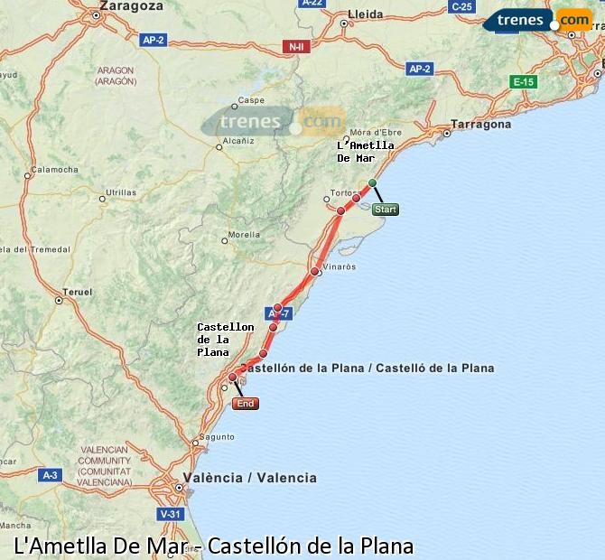 Cheap l 39 ametlla de mar to castell n trains tickets from 7 - Mare castellon ...