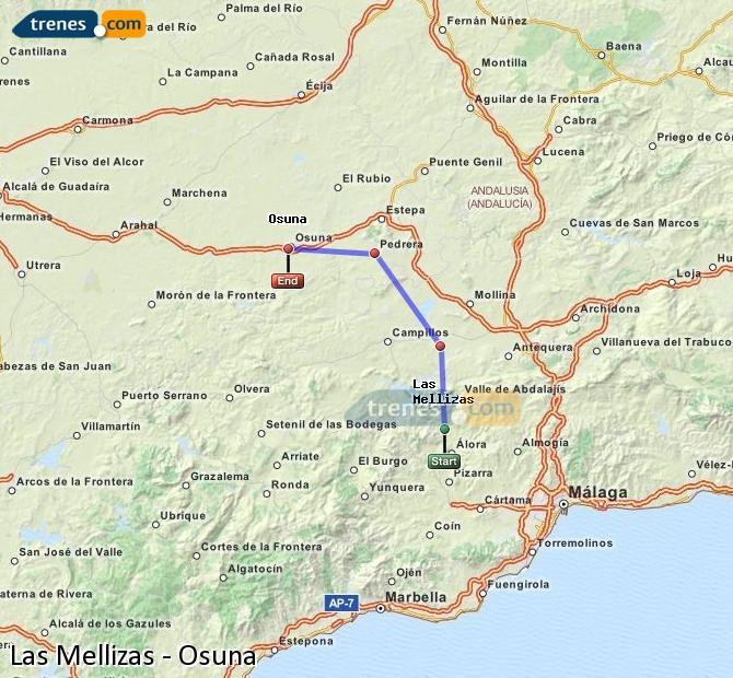 Ingrandisci la mappa Treni Las Mellizas Osuna