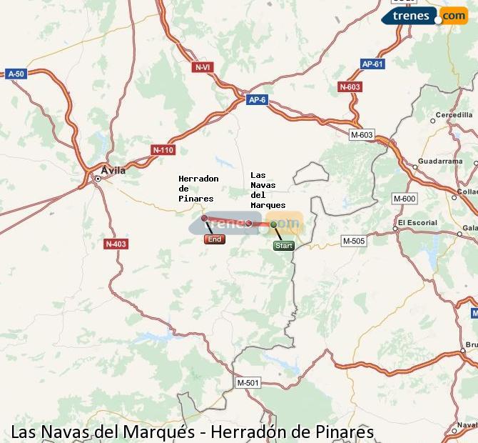 Ingrandisci la mappa Treni Las Navas del Marqués Herradón de Pinares