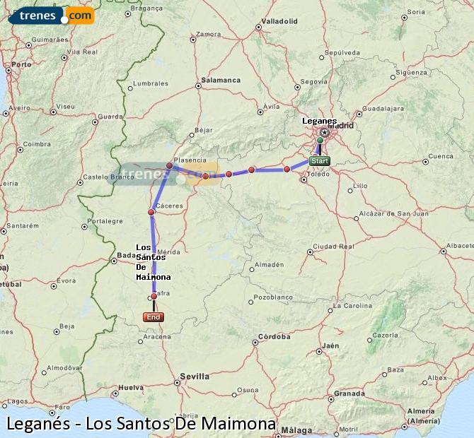 Ingrandisci la mappa Treni Leganés Los Santos De Maimona