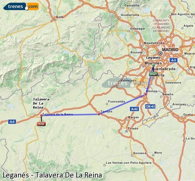 Ingrandisci la mappa Treni Leganés Talavera De La Reina