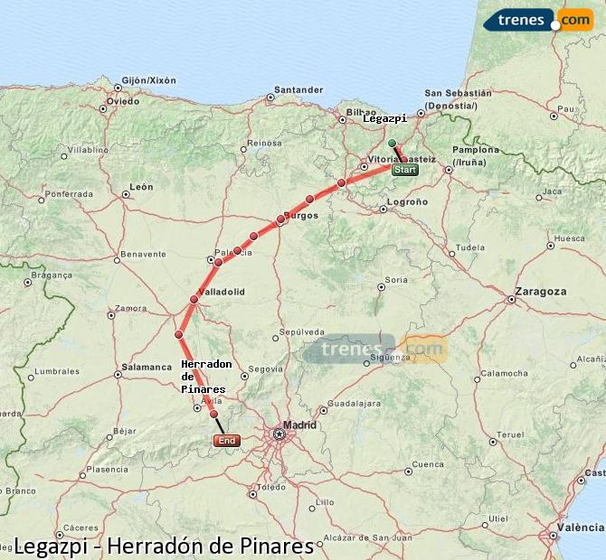 Ampliar mapa Trenes Legazpi Herradón de Pinares