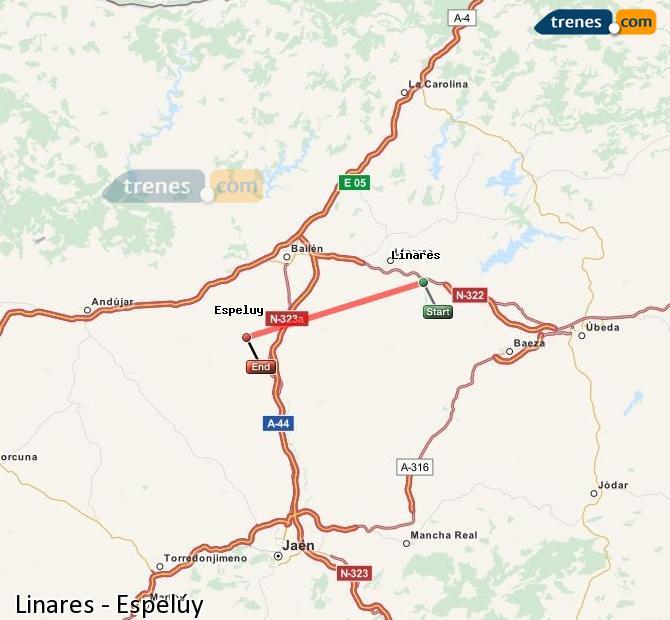 Ingrandisci la mappa Treni Linares Espelúy