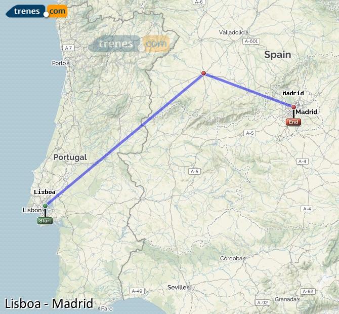 Agrandir la carte Trains  Madrid