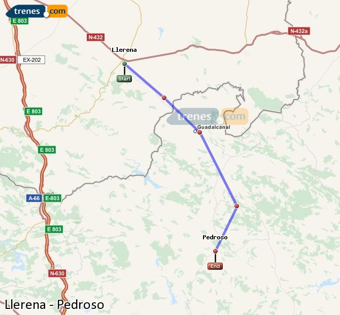 Ampliar mapa Trenes Llerena Pedroso