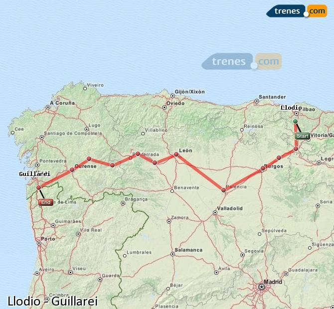 Ingrandisci la mappa Treni Llodio Guillarei