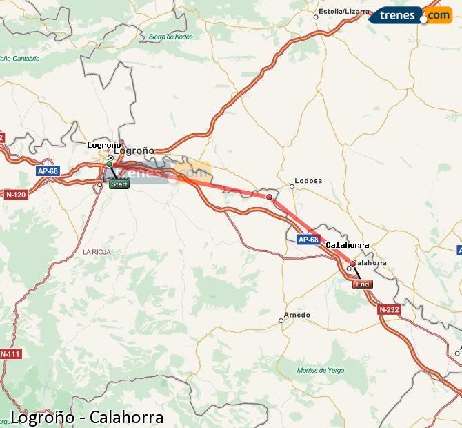 Karte vergrößern Züge Logroño Calahorra