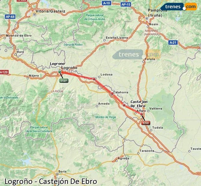 Ampliar mapa Trenes Logroño Castejón De Ebro