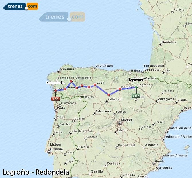 Ingrandisci la mappa Treni Logroño Redondela