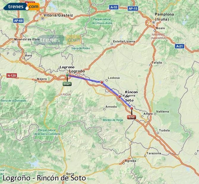 Karte vergrößern Züge Logroño Rincón de Soto